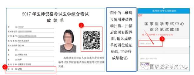中医助理医师资格考试成绩单验证