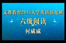 文都2015英语强化班六级阅读精选(何威威)