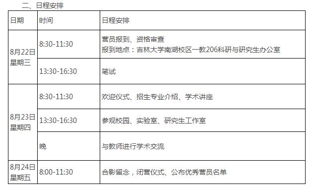 吉林大学通信工程学院2019保研夏令营通知
