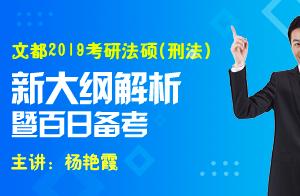 文都教育2019考研法硕(刑法)新大纲解析(杨艳霞)2