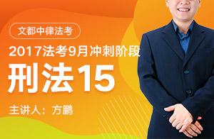 文都中律法考2017法考9月沖刺階段刑法(方鵬)15
