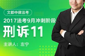 文都中律法考2017法考9月冲刺阶段刑事诉讼法(左宁)11