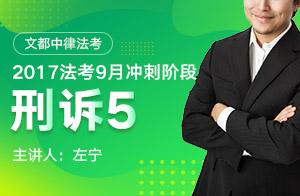 文都中律法考2017法考9月冲刺阶段刑事诉讼法(左宁)05