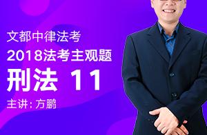 文都中律法考2018法考主观题刑法(方鹏)11