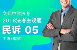 文都中律法考2018法考主观题民诉(蔡辉)05
