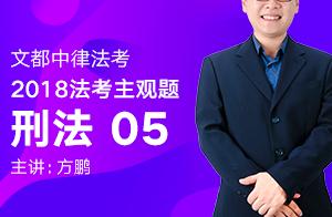 文都中律法考2018法考主观题刑法(方鹏)05