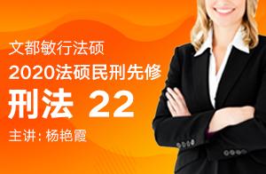 文都敏行法硕2020民刑先修阶段刑法(杨艳霞)22