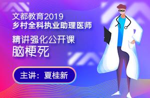 2019乡村全科执业助理医师精讲强化公开课脑梗死