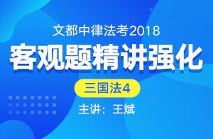 文都中律法考2018法考客观题精讲强化(王斌)04