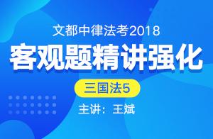 文都中律法考2018法考客观题精讲强化(王斌)05