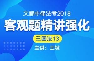 文都中律法考2018法考客觀題精講強化(王斌)13