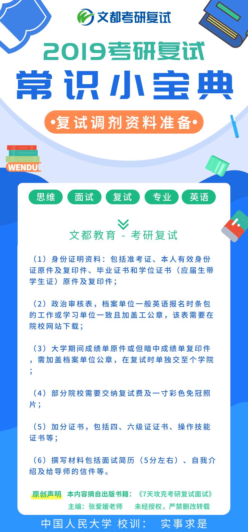 2019考研复试小宝典系列