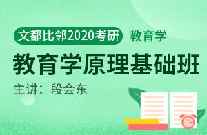 文都2020考研教育学基础班教育学原理(段会东)