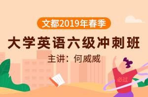文都2019春季大学英语六级冲刺课程(何威威)