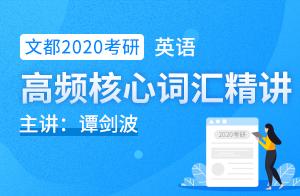 文都2020考研英语基础班词汇精讲(谭剑波)