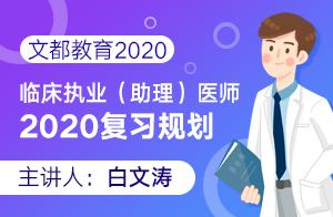 文都教育2020临床执业(助理)医师2020复习规划
