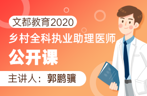文都教育2020乡村全科执业助理医师公开课