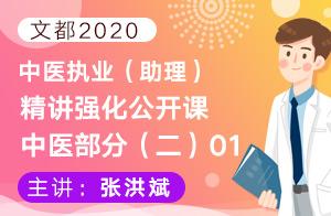 文都2020中医执业(助理)精讲强化公开课中医部分(二)01