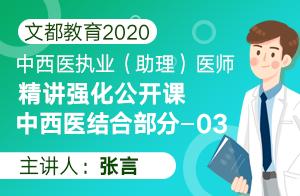 文都教育2020中西医执业(助理)精讲强化中西医结合03