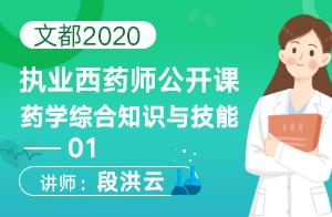 文都2020執業西藥師公開課藥學綜合知識與技能01
