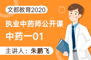 文都教育2020執業中藥師公開課-中藥一(朱鵬飛)01
