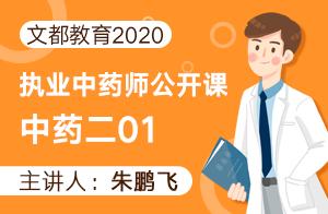 文都教育2020執業中藥師公開課-中藥二(朱鵬飛)01