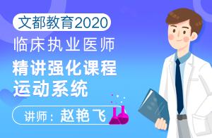 文都教育2020临床执业医师精讲强化课程运动系统